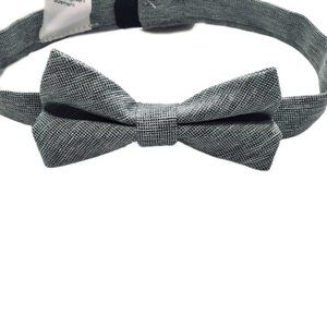 Light Grey Baby Bow Tie